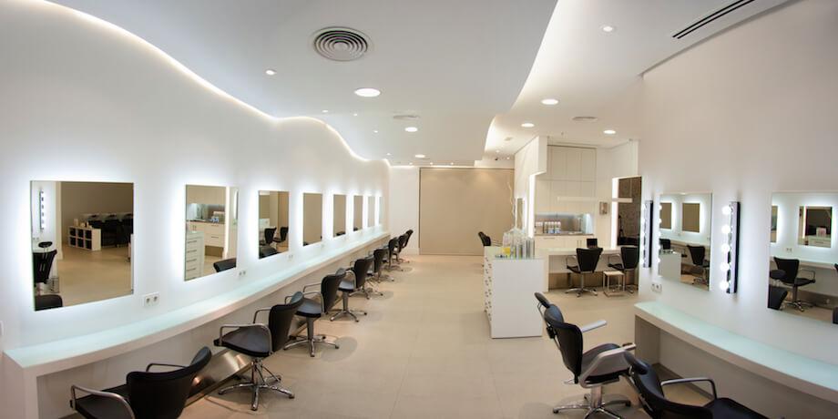 equipamiento integro de muebles - peluquería borín